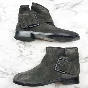  •Sigerson Morrison•  Suede Ankle Boots